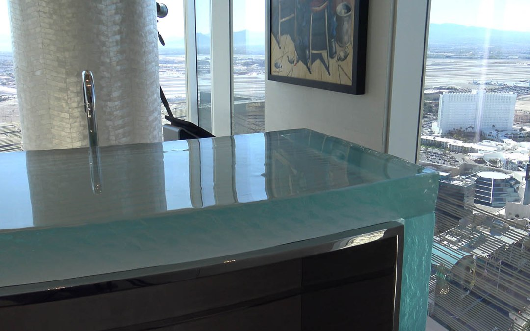 Mandarin Oriental, Las Vegas – Custom Residential Glass Bar Top