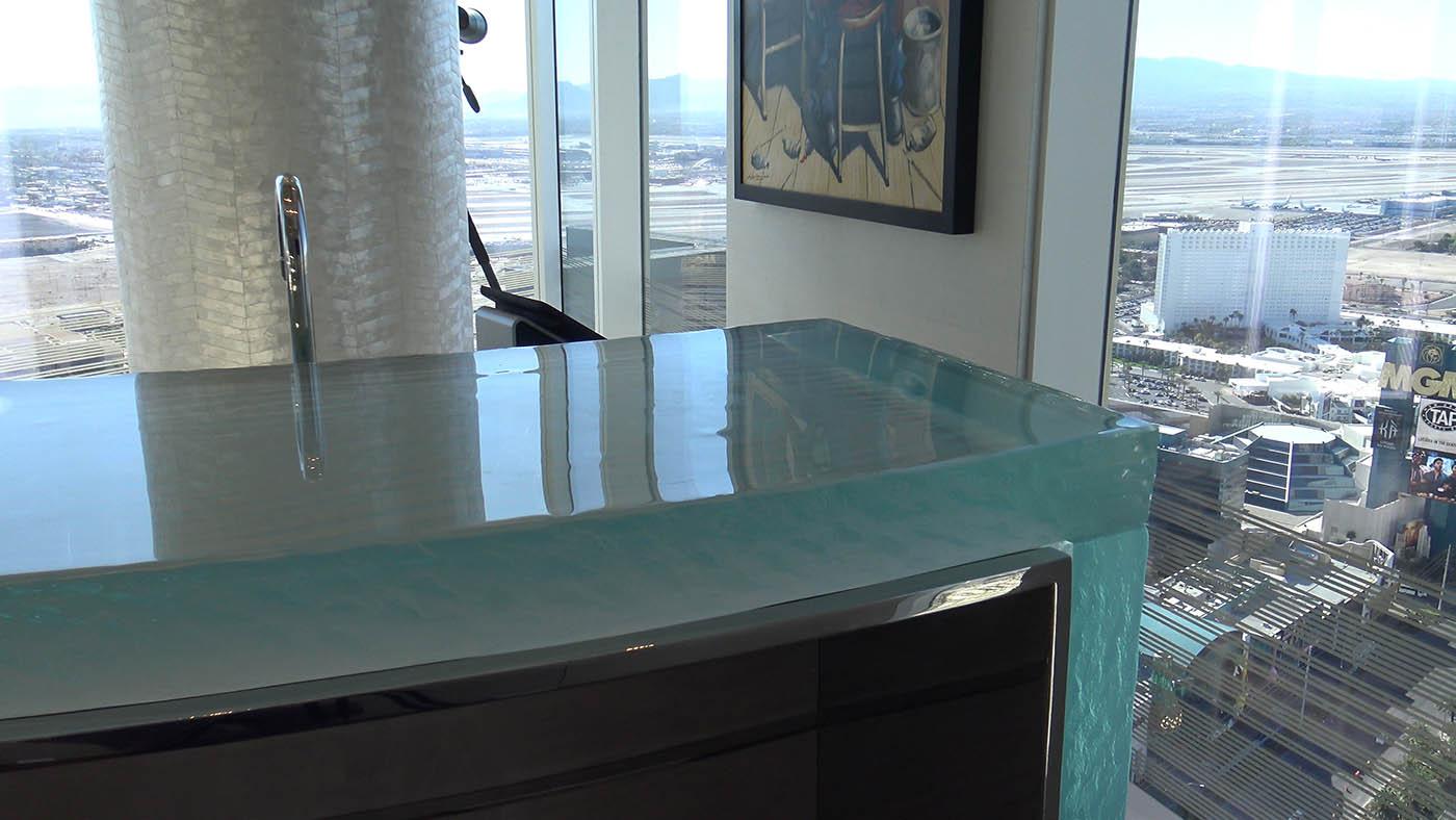 Mandarin Oriental, Las Vegas U2013 Custom Residential Glass Bar Top