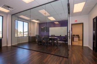 Conference Room Built With Commercial Heavy Glass