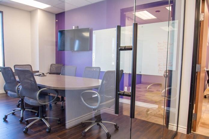 Close-up of Commercial Glass Door
