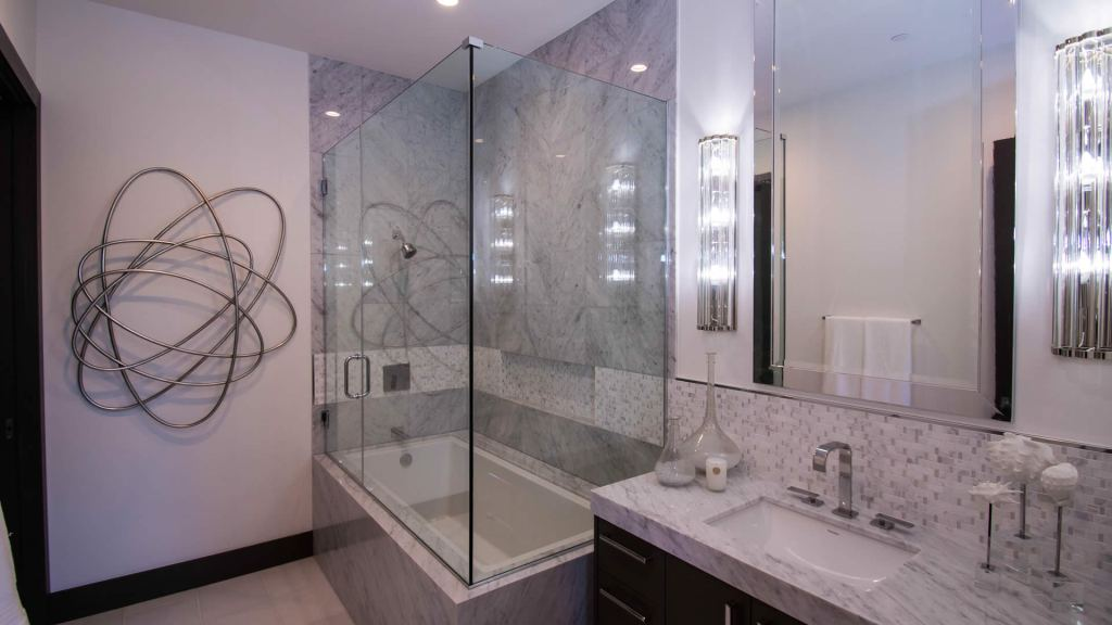 Custom Shower Door - Sunwest Custom Homes
