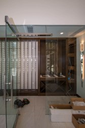 Custom Heavy Glass Wine Room Installation by A Cutting Edge Glass & Mirror