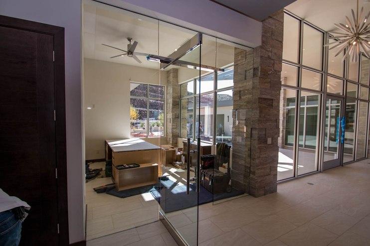 Heavy Glass Door & Office Wall