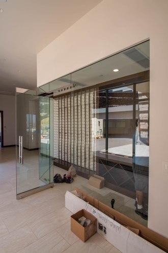 Residential Glass Wine Room - Sunwest Custom Homes