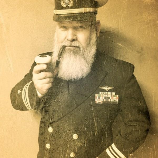 Beard Navy Sea Captain Pilot Old Time