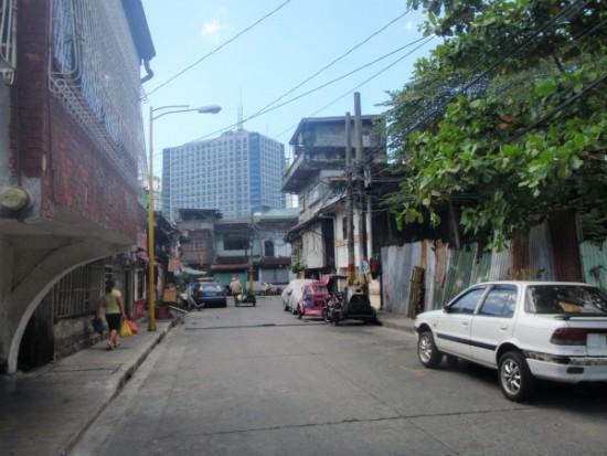 フィリピンマニラマカティ地区の住宅街の風景