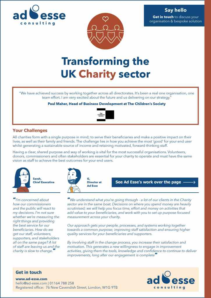 Transforming the UK Charity sector guide