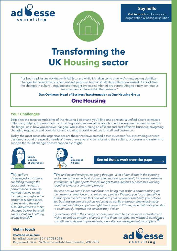 Transforming the Housing Sector Guide