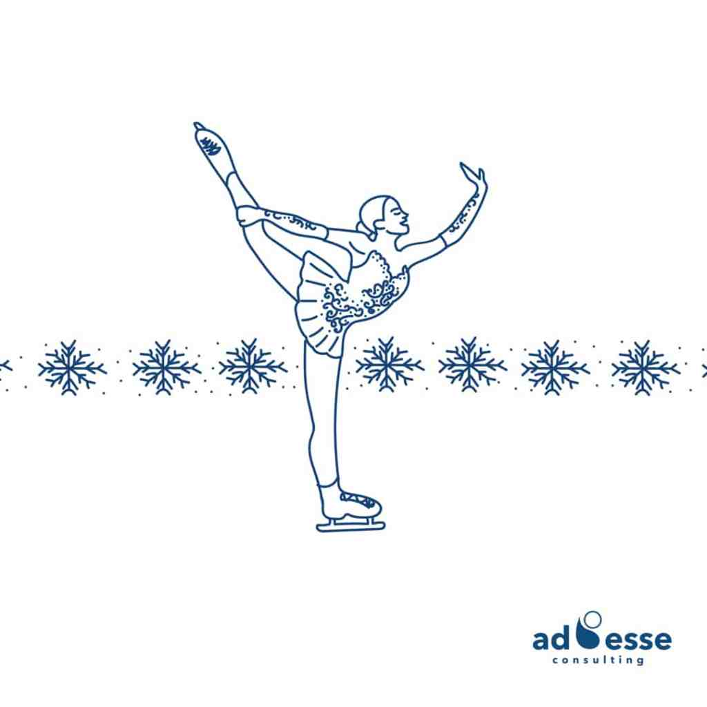 Ice skater illustration by Ad Esse Consulting