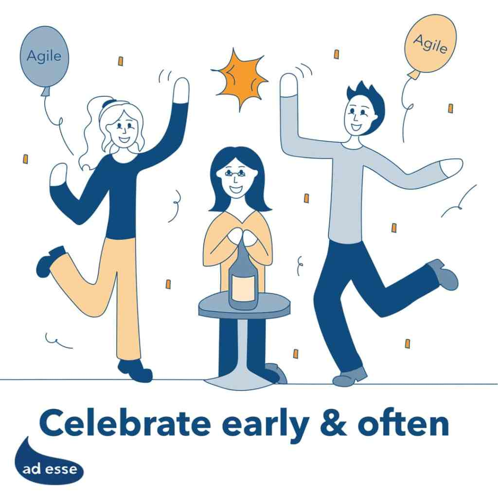 Celebrate success early and often with Agile Implementation Managers at Ad Esse Consulting