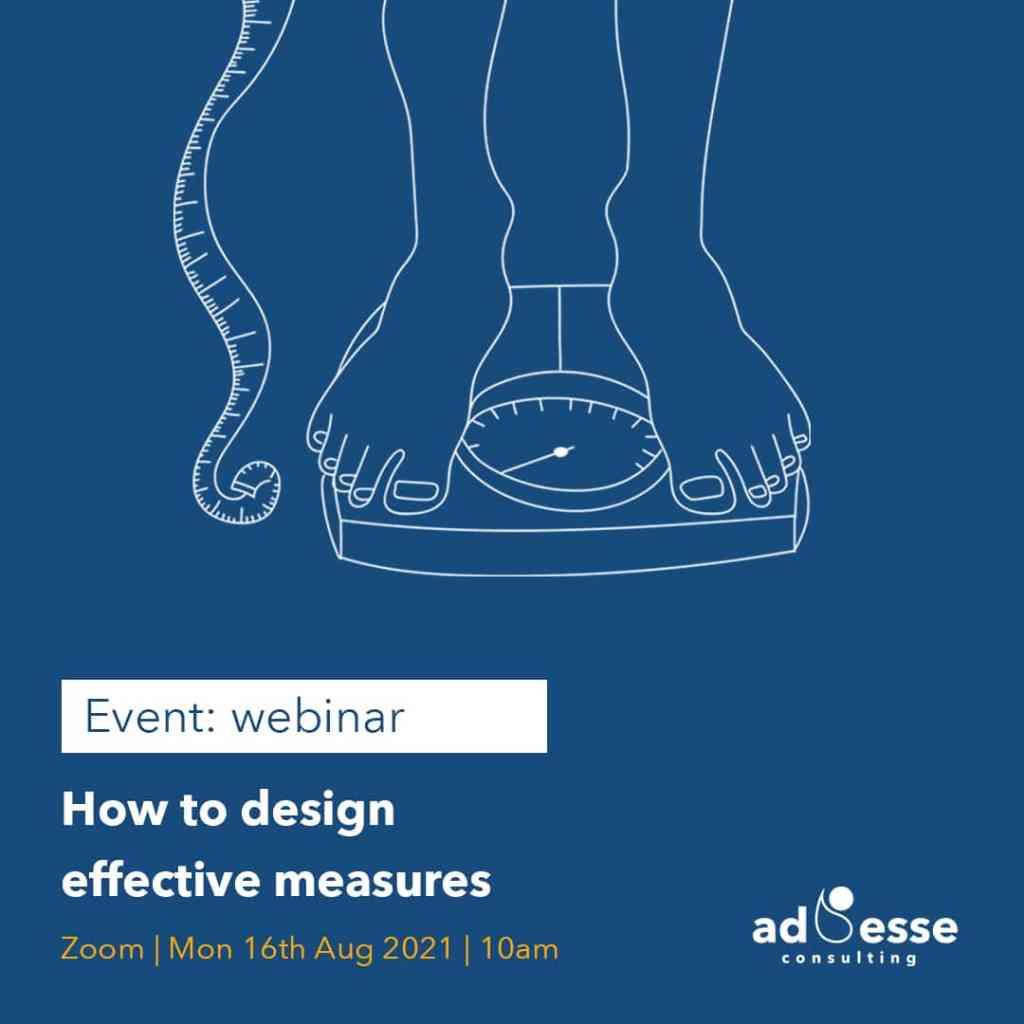 Ad Esse Consulting event how to design effective measures instagram image