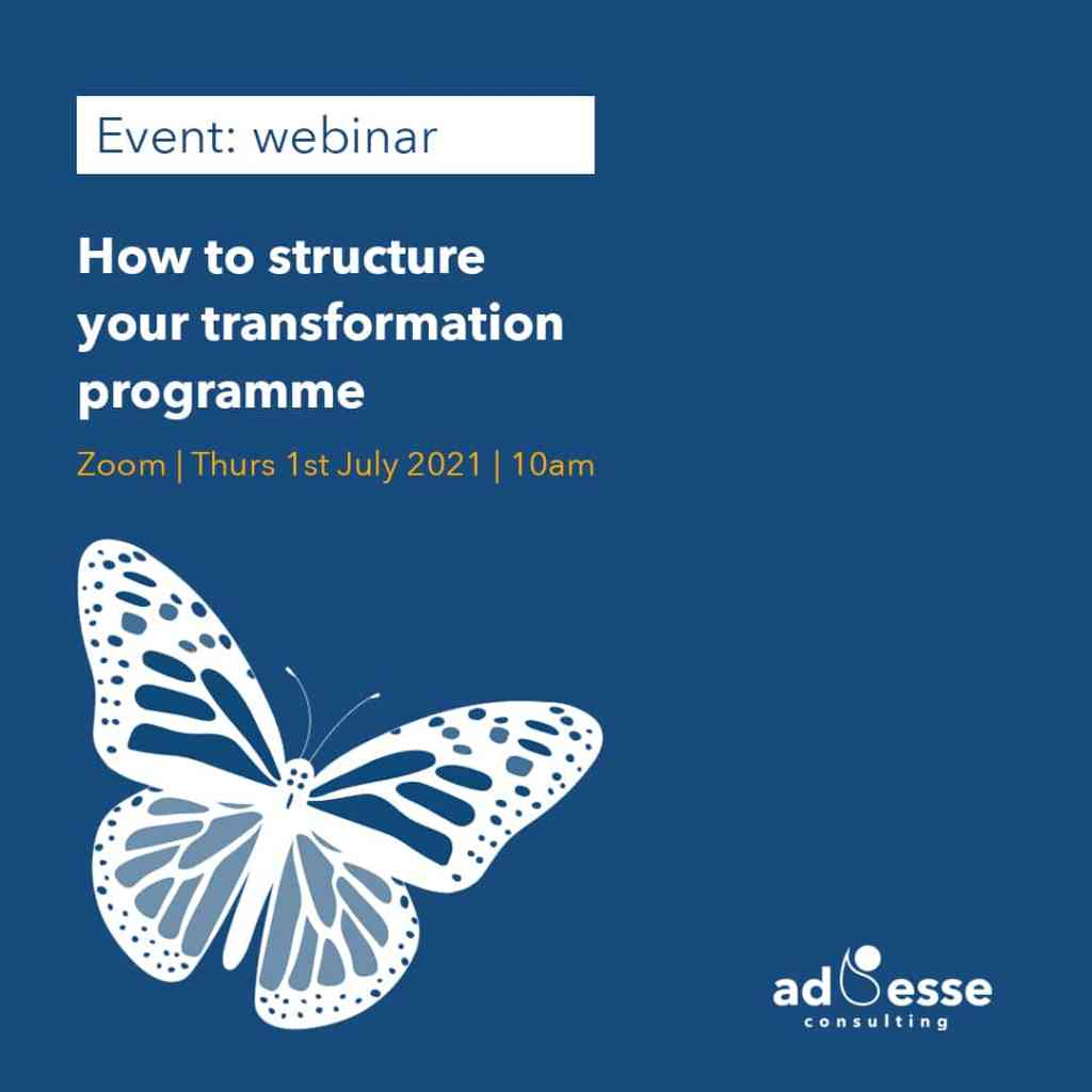 How to structure your transformation programme with Ad Esse Consulting Instagram post