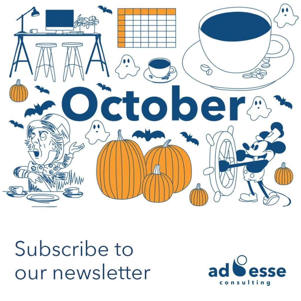 Ad Esse Consulting October calendar illustration