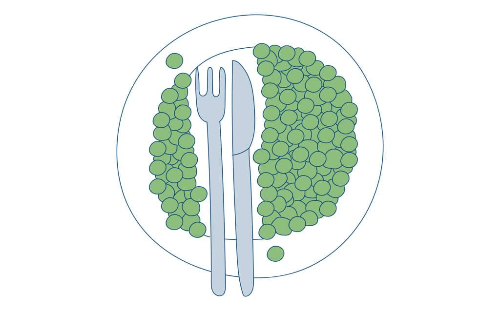 Ad Esse Consulting plate of Pareto principle peas