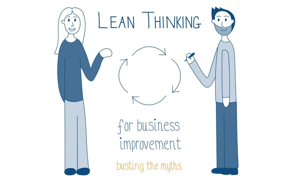 Ad Esse Consulting Lean Thinking for Business Improvement busting the myths event illustration