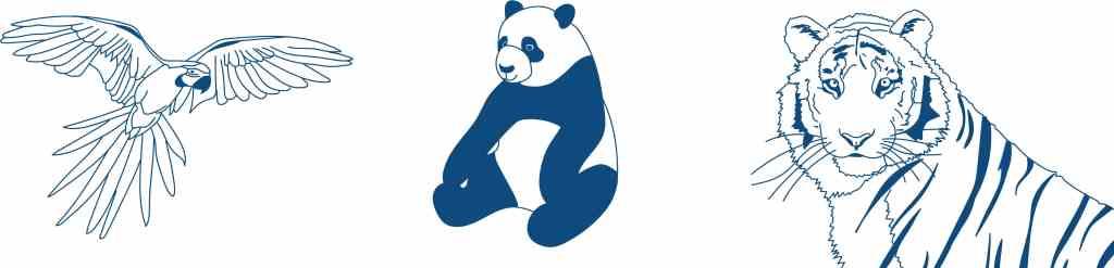 Ad Esse Consulting WWF animals illustration