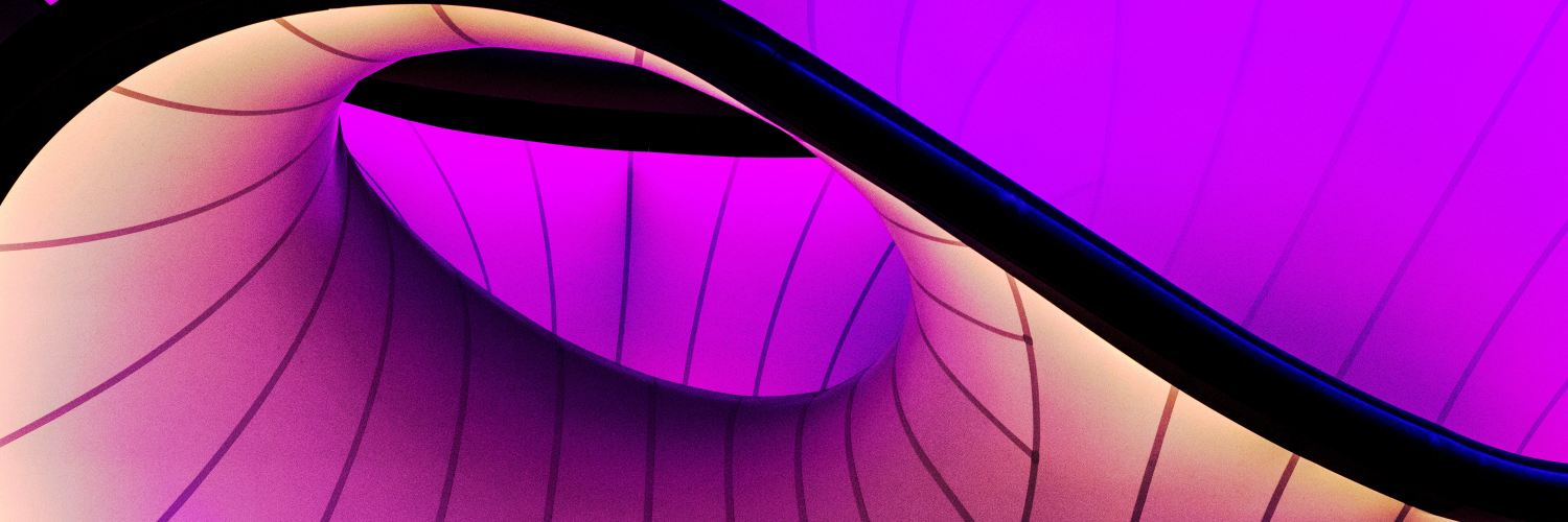 Purple abstract object from London science museum