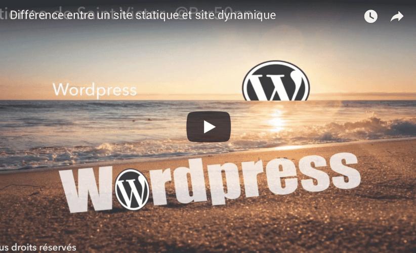 difference site dynamique et site statique