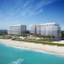 """Richard Meier Tops Out on Florida Beach """"Surf Club"""" © dbox for Fort Capital / Richard Meier & Partners"""