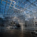 "UVA Transforms Sou Fujimoto's Serpentine Pavilion with ""Electrical Storm"" of LEDs ©  United Visual Artists"
