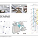 Southwest International Ethnic Culture and Art Center Winning Proposal / Tongji Architectural Design and Research Institute circulation diagram. Image Courtesy of Tongji Architectural Design and Research Institute