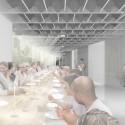 Collective-LOK Wins Van Alen Institute's Ground/Work Competition Dinner scenario. Image Courtesy of Collective-LOK
