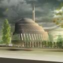 SADAR+VUGA Shares Second in Central Mosque of Pristina Competition Mandatory 3. Image © SADAR + VUGA