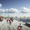 White Arkitekter Wins FAR ROC Design Competition View from Pier. Image © White Arkitekter