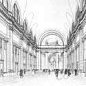 AD Classics: Pennsylvania Station / McKim, Mead & White Drawing of the arcade, published in the New York Times in 1906