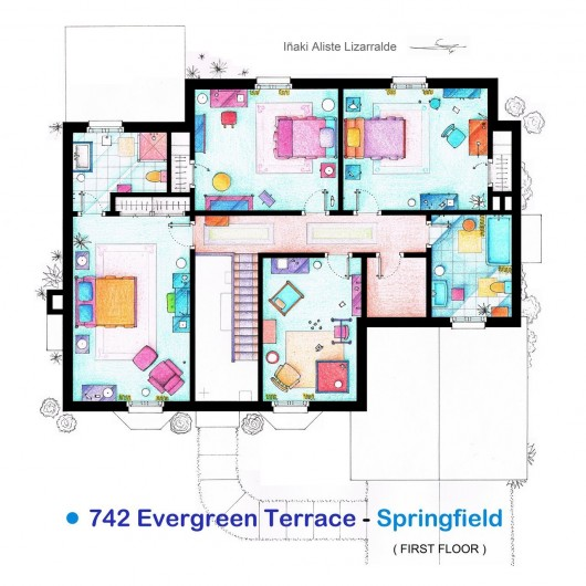 Here Are Some Floor Plans from Famous TV Shows!   The PractitioNERD