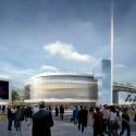 Arte Charpentier Architectes Unveils Plans for Calais Congress Centre Exterior plaza view. Image © Arte Charpentier Architectes