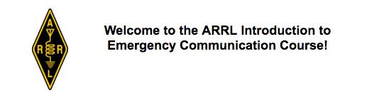 ARRL EC-001 Intro to EMCOMM Course