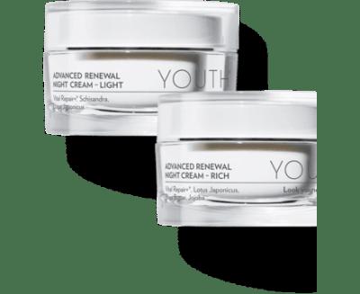 YOUTH Advanced Renewal Night Cream - Light or Rich