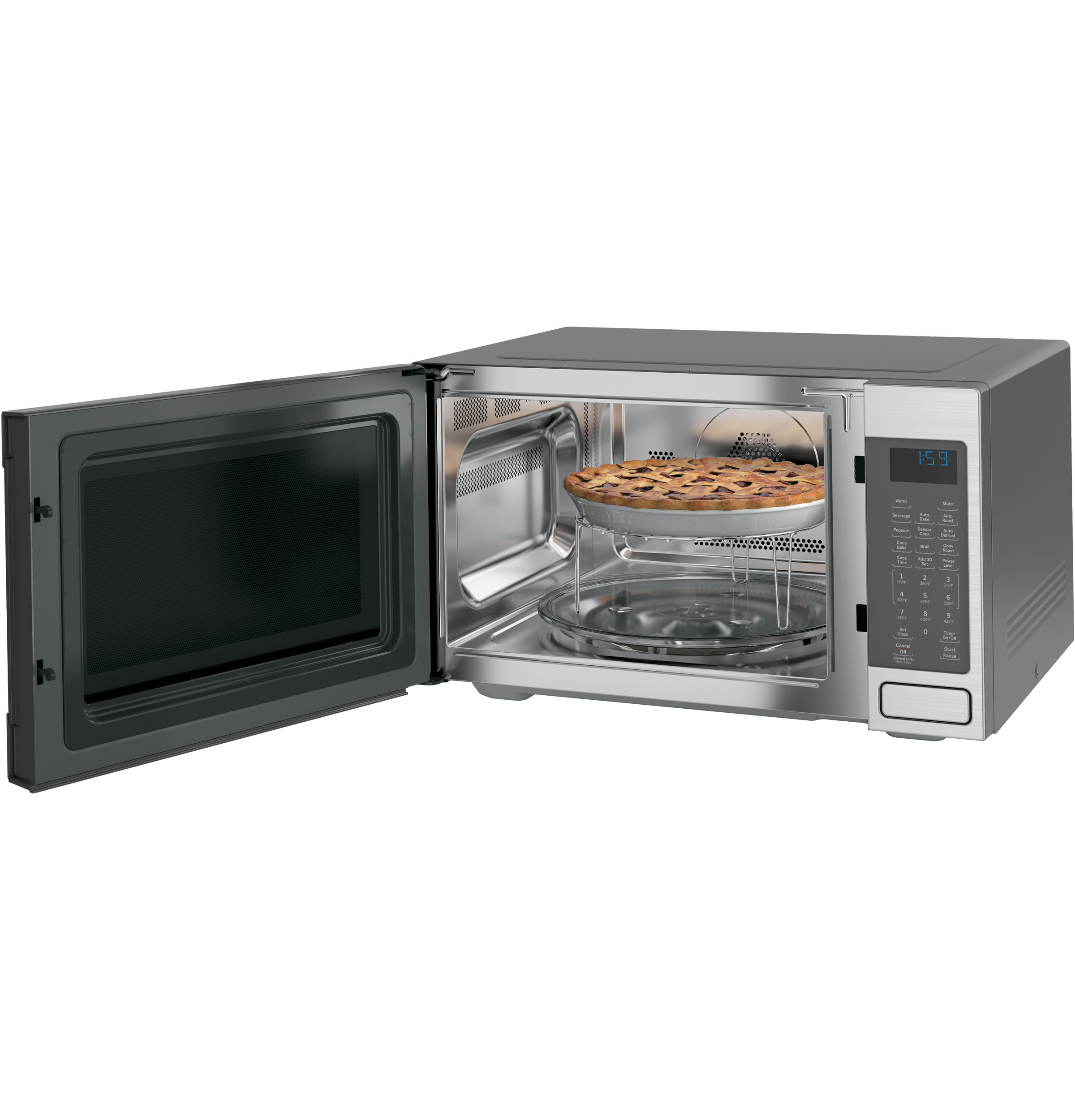 ge cafe series 1 5 cu ft countertop convection microwave oven ceb1599sjss ada appliances