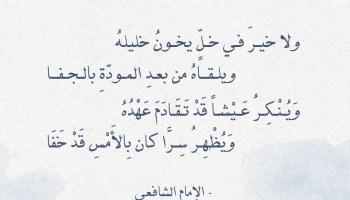 شعر حكمة الإمام الشافعي - ولا خير في خل يخون خليله