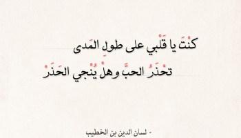 شعر لسان الدين بن الخطيب - سكن الحب فؤادي وعمر