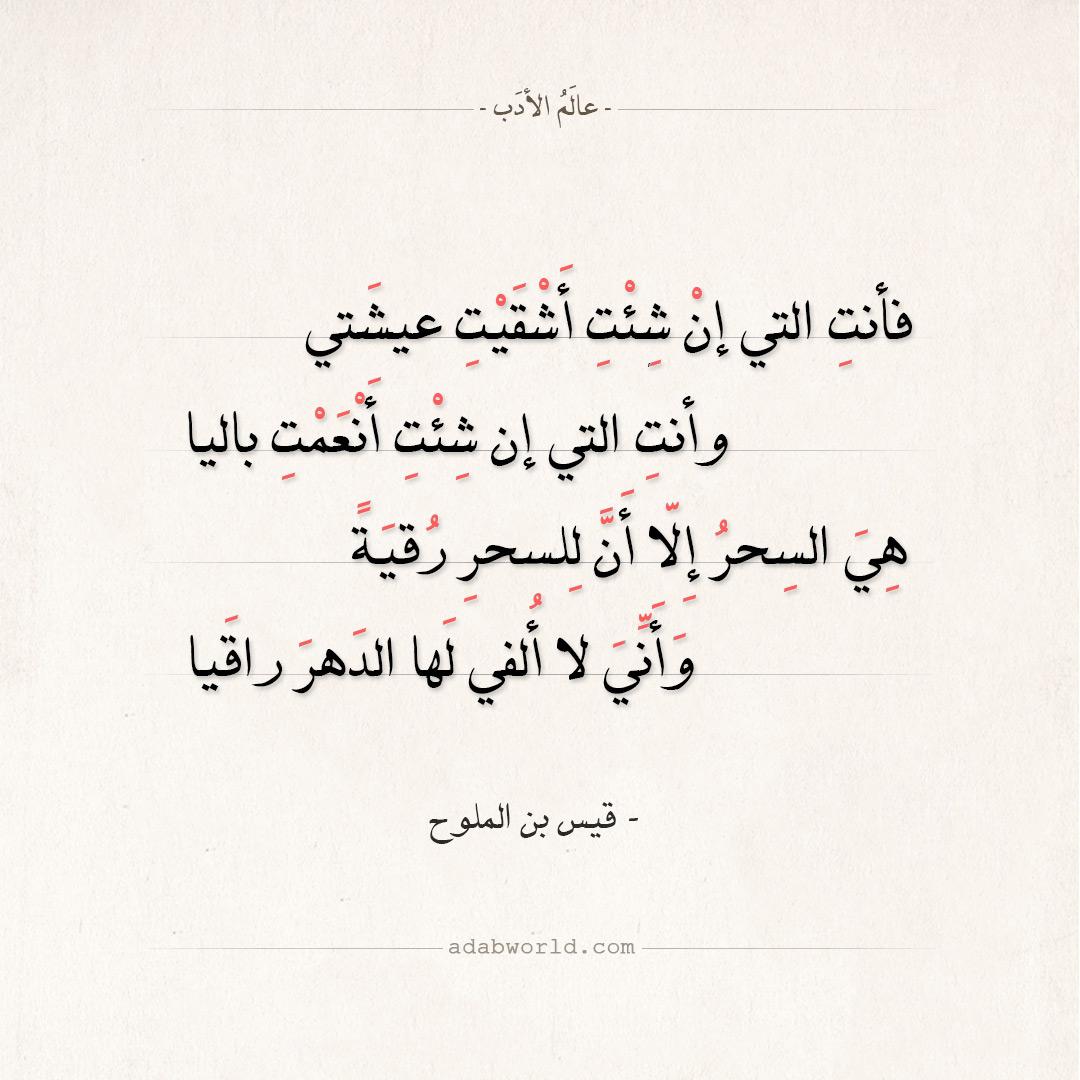 شعر قيس بن الملوح - هي السحر إلا أن للسحر رقية