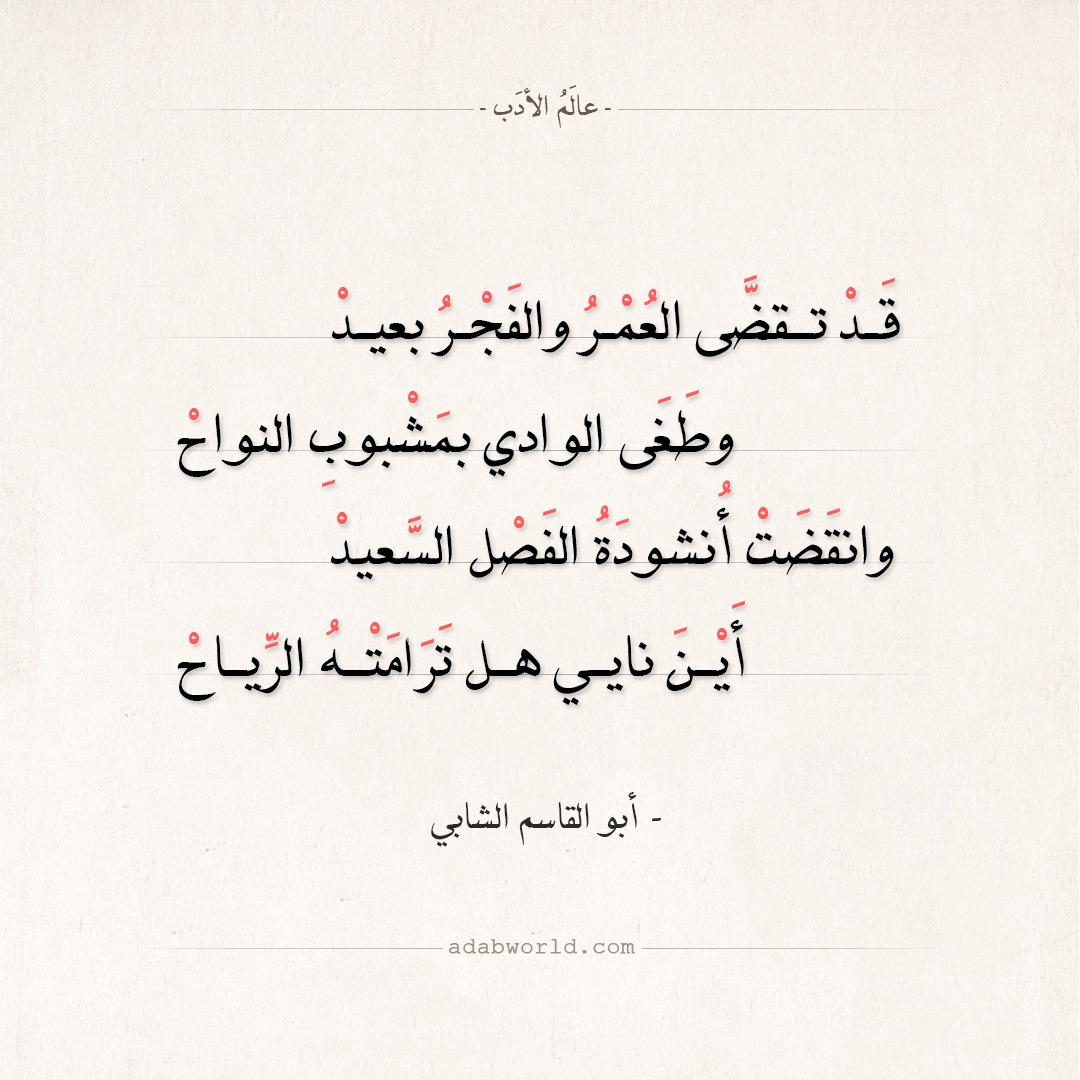 شعر أبو القاسم الشابي - كان في قلبي فجر ونجوم