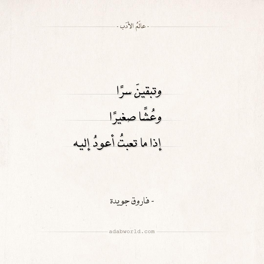 شعر فاروق جويدة - وتبقين سرا وعشا صغيرا