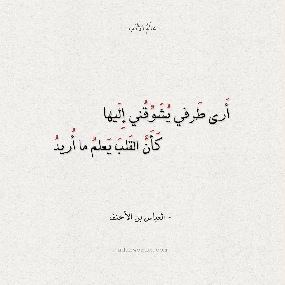 من اجمل ابيات شعر الشوق لـ أبو الفضل بن الأحنف