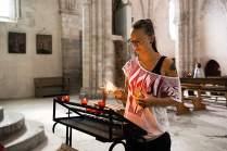 Kraftquelle: In der Basilika von Valère genießt die Musikerin jene Ruhe, die ihr im Alltag zwischen der Arbeit im Studio und ihren Auftritten selten bleibt.