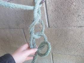 répéter l'opération pour le nœud de chainette