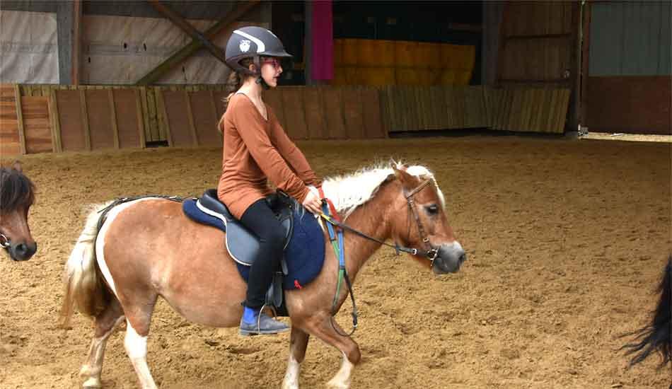 cavalière à poney