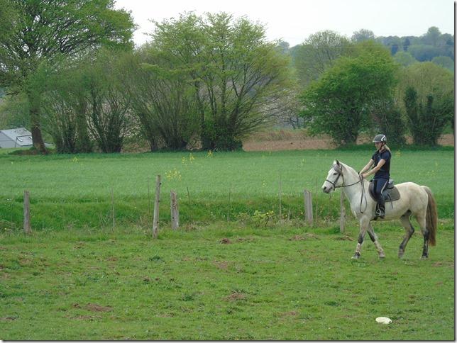 exercice à cheval échauffement
