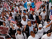 Immigration protest, L.A. 2006