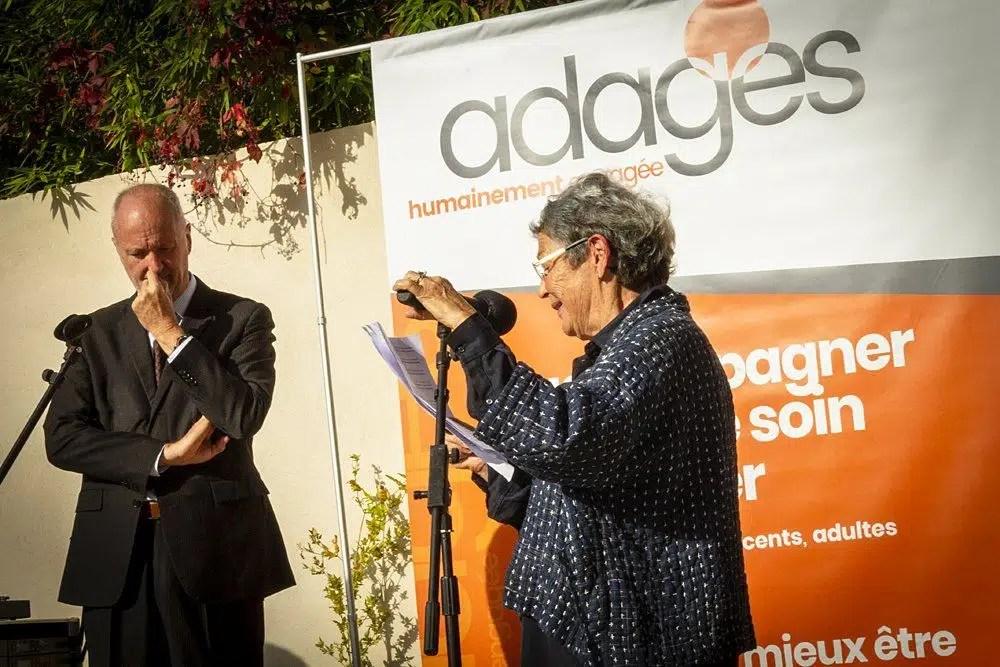 Madame Françoise Fassio, Présidente de l'Adages