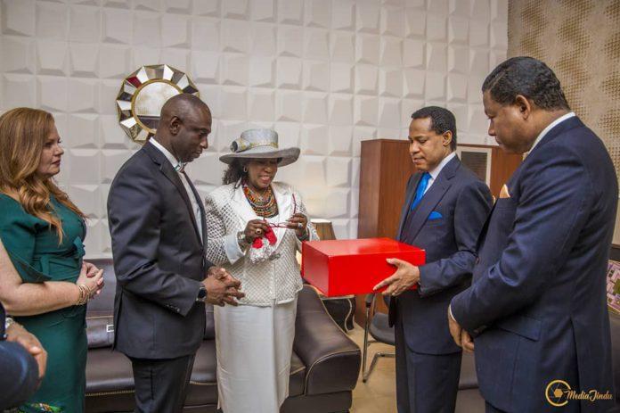 pastor chris oyakhilome gifted a bible used by achbishop benson idahosa