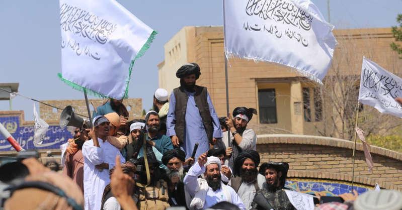 A picture of Talibans meeting.