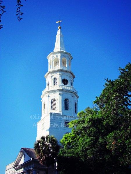 Charleston -- Church Steeple Against the Skyline