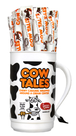 A tumbler full of Cow Tales!